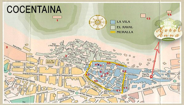 Plan for sightseeing in Cocentaina